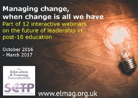 Future Leadership webinar series - Managing change, when change is all we have
