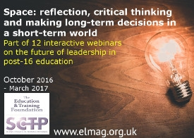 Future Leadership webinar series - Space: reflection, critical thinking and making long-term decisions in a short-term world