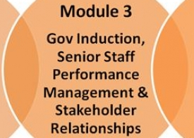 Module 3: Governor induction, senior staff performance management & stakeholder relationships (self-access)
