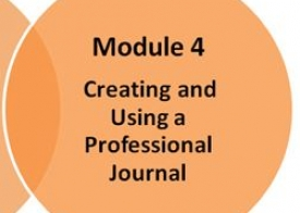 Module 4: Creating and using a professional journal (self-access)