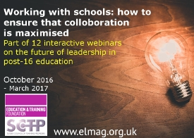 Future Leadership webinar series - Working with schools: how to make sure that collaboration is king